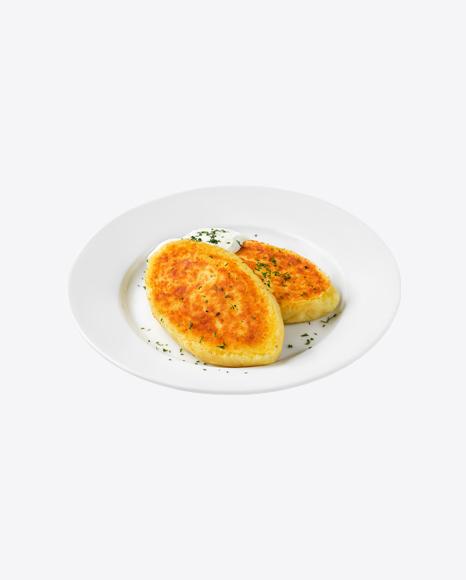 Potato Cutlets w/ Sour Cream