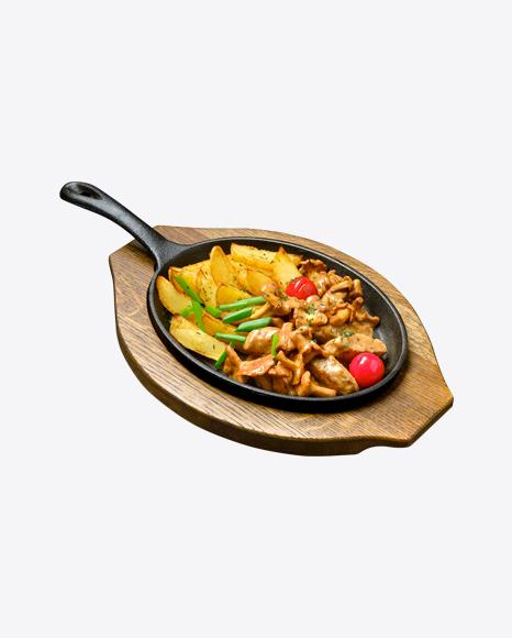 Country Potatoes w/ Chanterelles & Meat