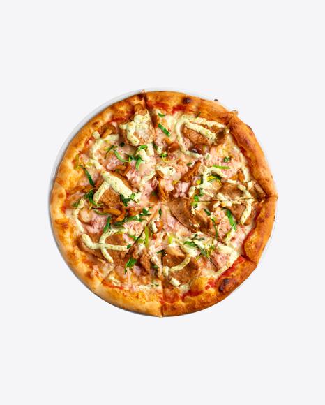 Pizza w/ Meat & Mushrooms