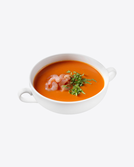 Pumpkin Cream Soup w/ Shrimps