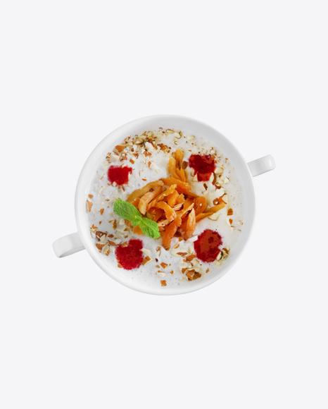 Porridge w/ Dried Apricots, Nuts & Jam