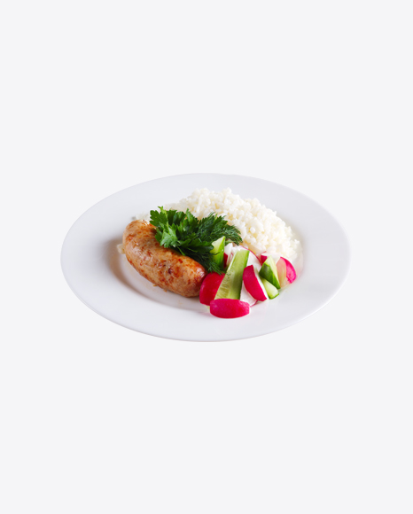 Roasted Sausage w/ Fresh Vegetables & Rice