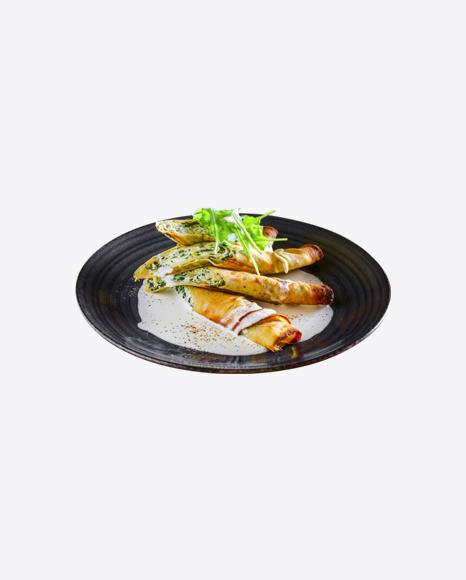 Roasted Rolls w/ Cream Cheese & Greens