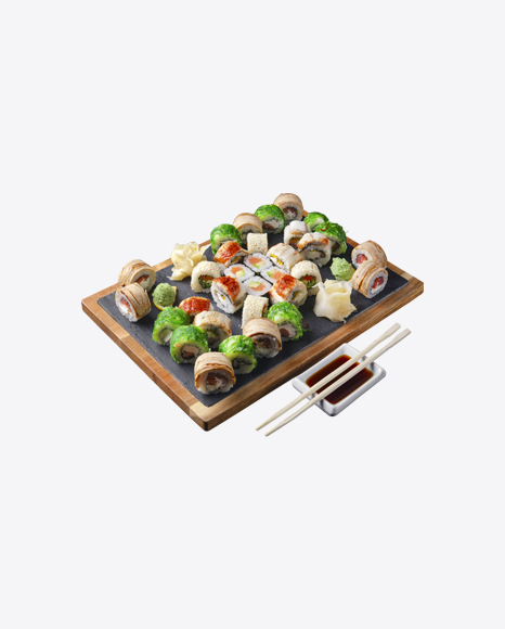 Sushi Set w/ Soy Sauce & Chopsticks