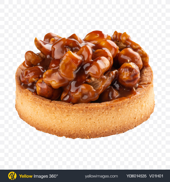 Download Tartlet with Nougat and Hazelnuts Transparent PNG on YELLOW Images