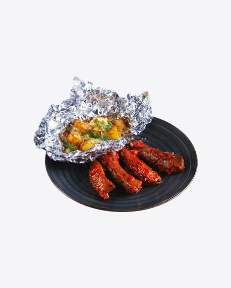 Barbecue Ribs w/ Baked Potato