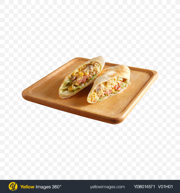 Download Stuffed Roll on Wooden Plate Transparent PNG on YELLOW Images