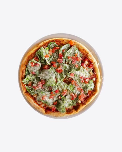 Pizza w/ Kale, Tomatoes & Parmesan