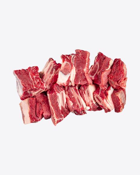 Chopped Raw Beef Ribs