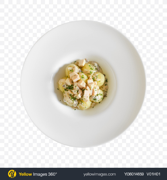 Download Baby Potatoes w/ Chicken & Cream Gravy Transparent PNG on YELLOW Images