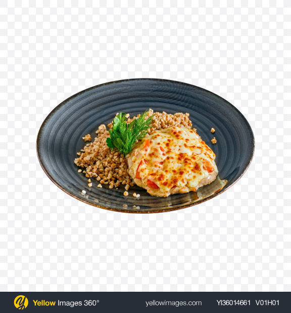 Download Buckwheat w/ Baked Meat Transparent PNG on YELLOW Images