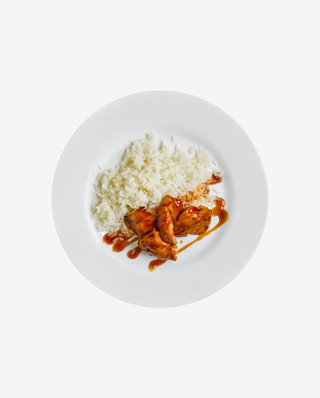 Rice w/ Teriyaki Chicken