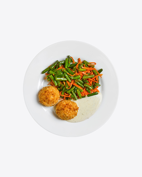Fried Cutlets w/ Vegetables & Sour Cream