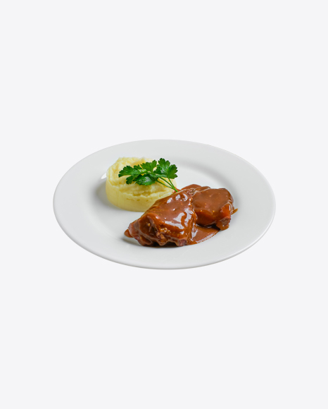 Meat in Gravy w/ Mashed Potatoes