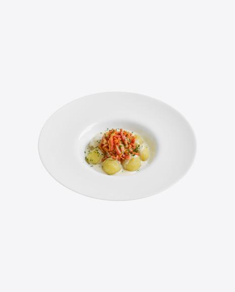 Baby Potatoes w/ Meat Slices & Cream Gravy