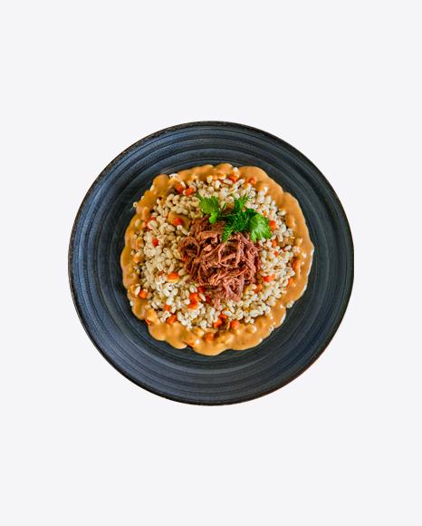 Pearl Barley w/ Meat Slices & Gravy