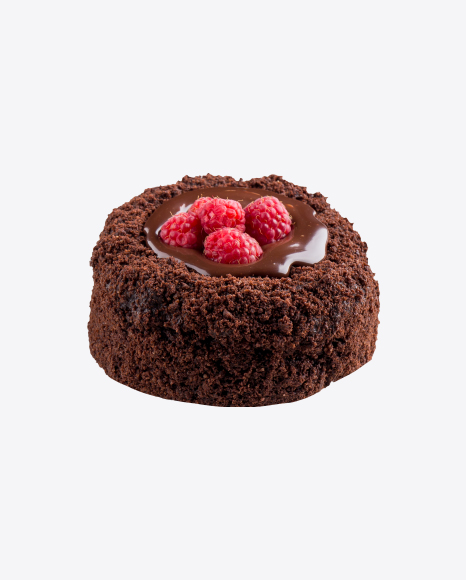 Chocolate Mini Cake w/ Raspberries