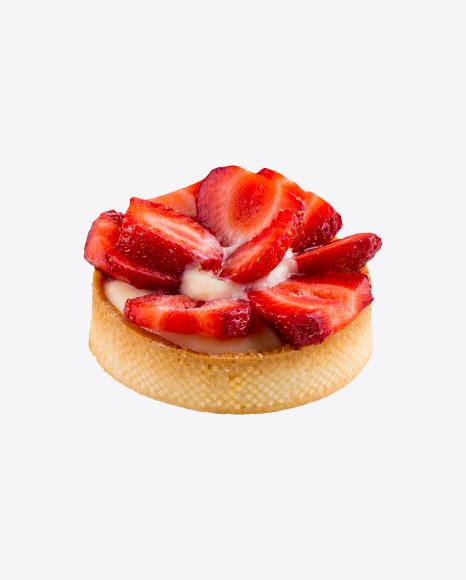 Strawberry Tart w/ Cream