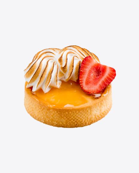 Lemon Cake w/ Meringue & Strawberry