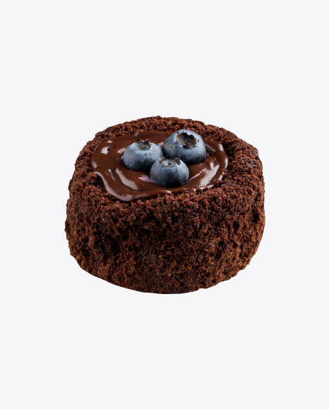 Chocolate Mini Cake w/ Blueberries