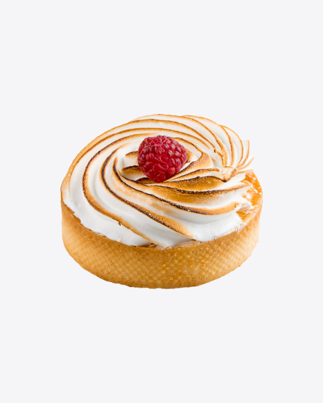 Lemon Cake w/ Meringue & Raspberry