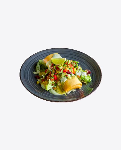 Roasted Roll w/ Salad