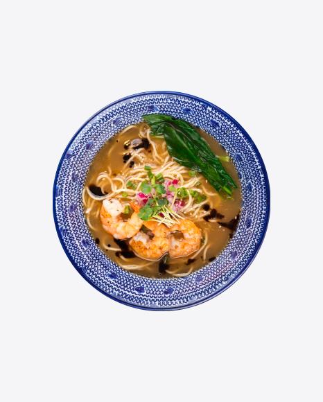 Ramen Soup w/ Tiger Shrimps