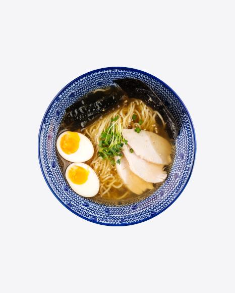 Shio Ramen Soup w/ Pickled Egg
