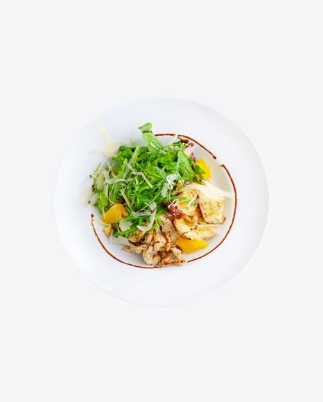 Chicken Salad w/ Orange Slices & Arugula Leaves
