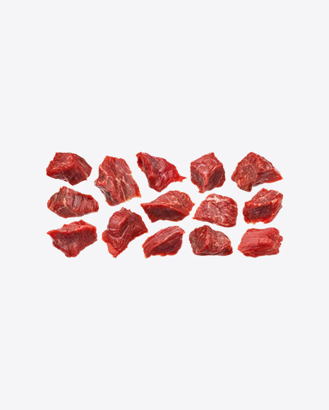 Raw Red Meat Pieces Set