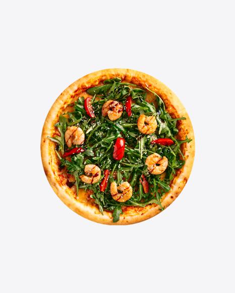 Pizza w/ Shrimps & Arugula