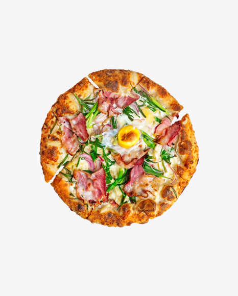 Carbonara Pizza w/ Ham & Egg