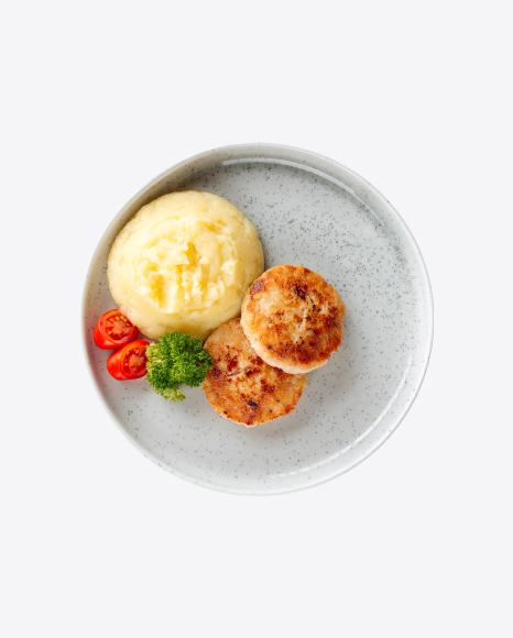 Chicken Cutlets w/ Mashed Potato