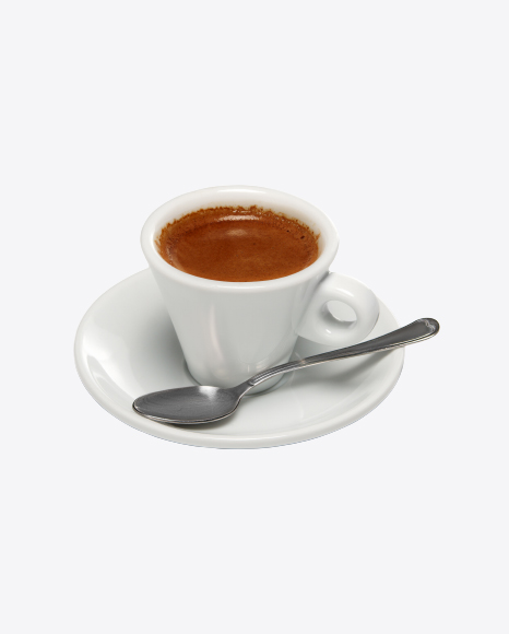 Cup of Espresso with Spoon