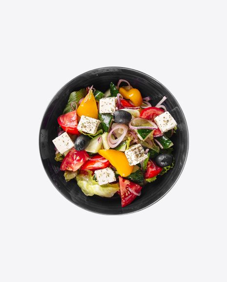 Greek Salad in Bowl