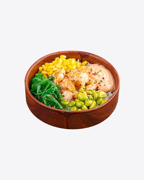 Poke Bowl w/ Shrimps & Vegetables
