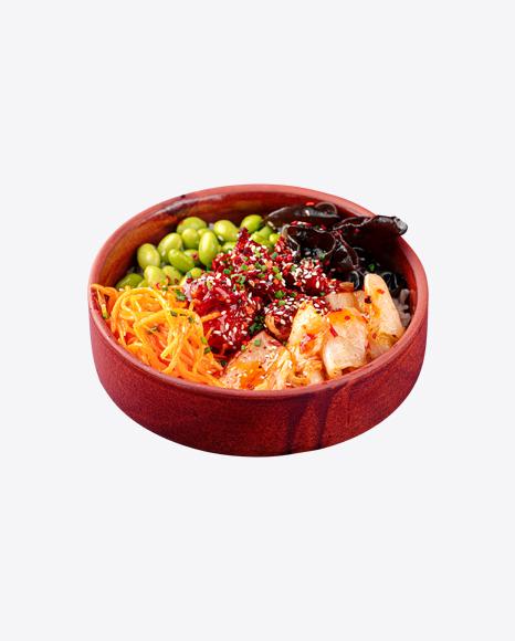 Poke Bowl w/ Chicken & Kimchi