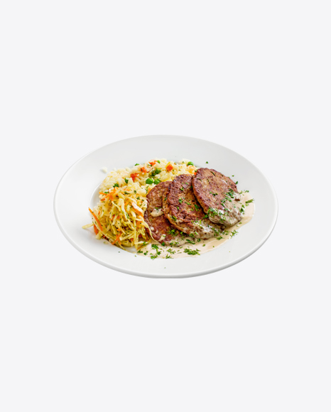 Roasted Cutlets w/ Rice & Cabbage Salad