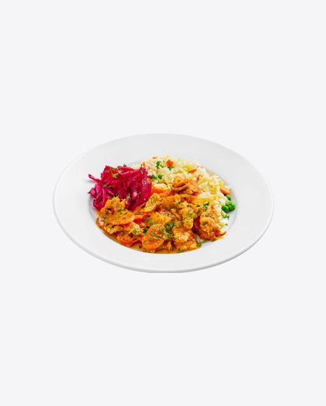 Chicken Stew w/ Rice & Chopped Beetroot