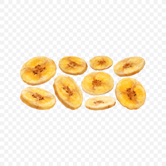Download Dried Banana Slices Set Transparent PNG on YELLOW Images