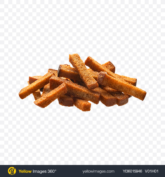 Download Rye Croutons Pile Transparent PNG on YELLOW Images