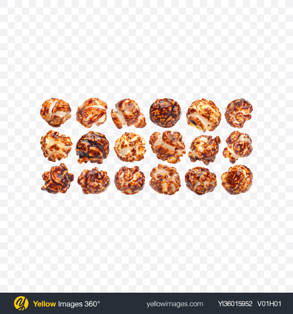 Download Caramel Popcorn Set Transparent PNG on YELLOW Images