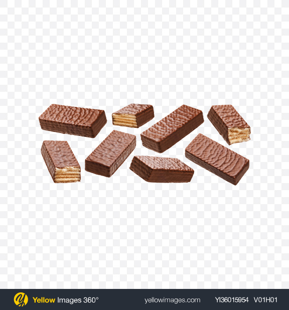 Download Chocolate Waffles Set Transparent PNG on YELLOW Images