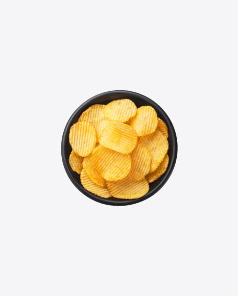Ribbed Potato Chips in Bowl