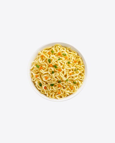 Instant Noodles in Ceramic Bowl