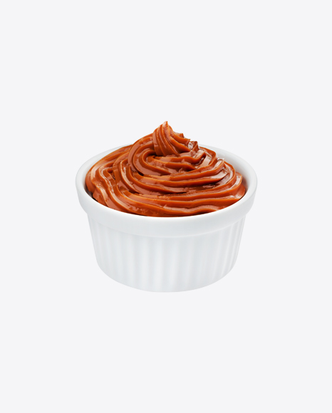 Caramel in White Bowl
