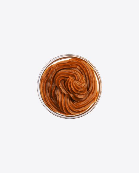 Caramel in Glass Bowl