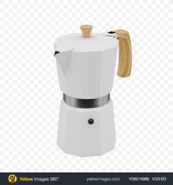 Download White moka pot Transparent PNG on YELLOW Images