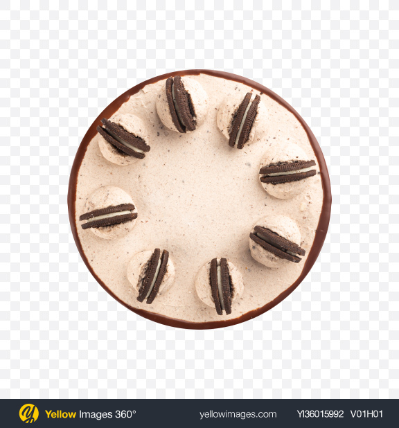 Download Chocolate Cake w/ Cookies Transparent PNG on YELLOW Images
