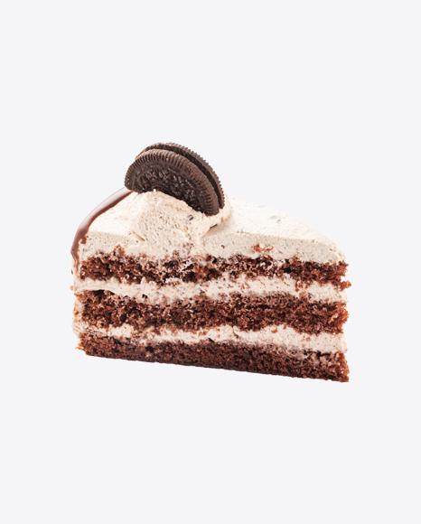 Chocolate Cake w/ Cookies Slice
